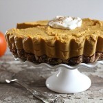Raw Pumpkin Pie Cheesecake (#glutenfree, #vegan, #raw)