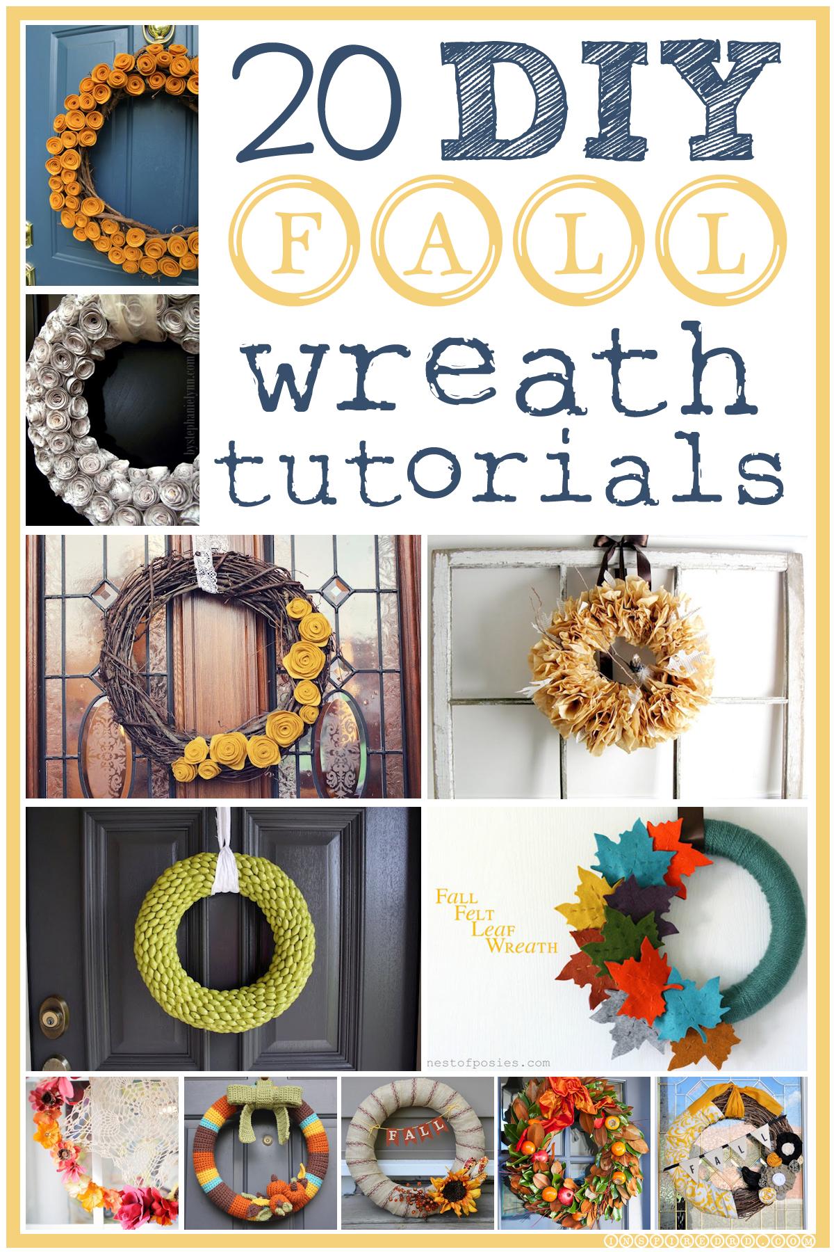 20 DIY Fall Wreath Tutorials