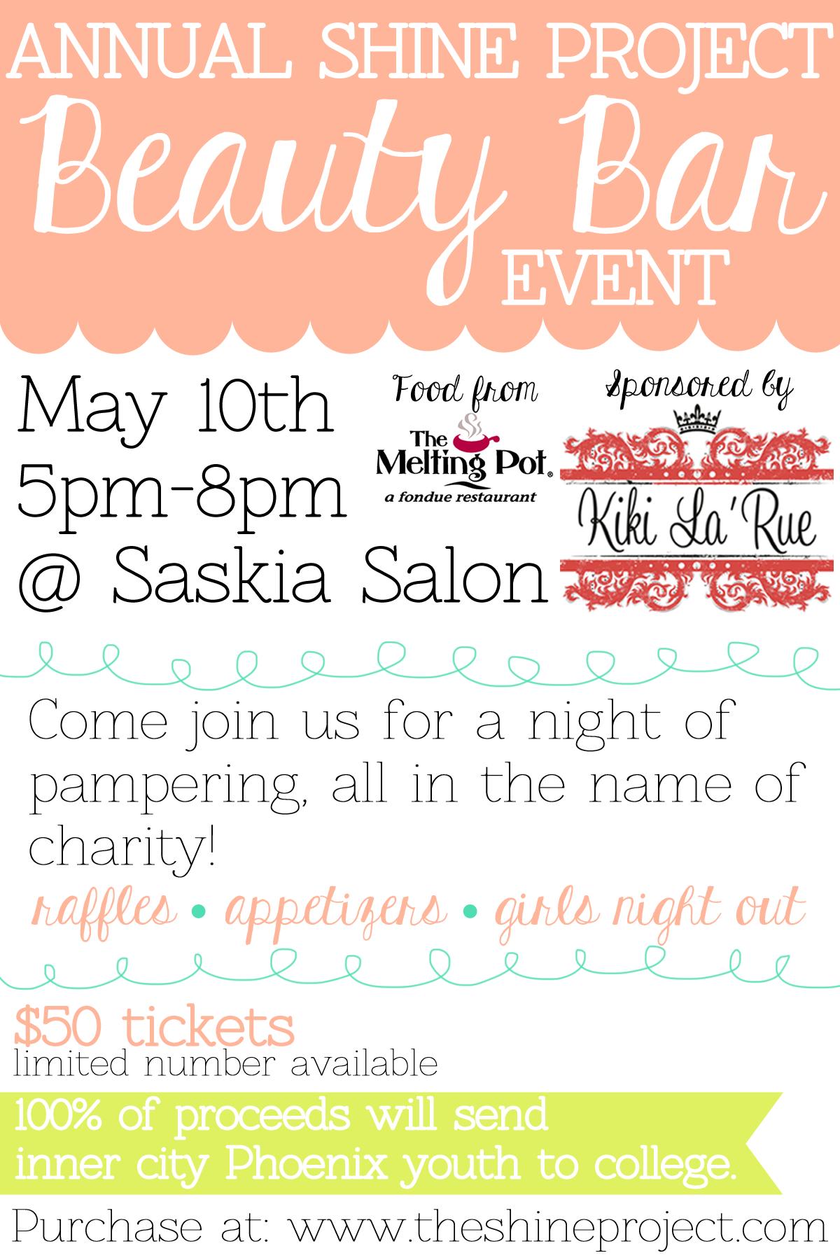 The Shine Project Beauty Bar Event #phoenix