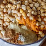 Pumpkin Hummus | InspiredRD.com #glutenfree #halloween