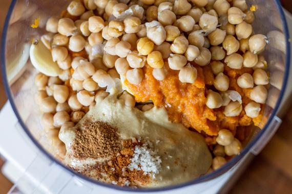 Pumpkin Spiced Hummus   InspiredRD.com #glutenfree #halloween