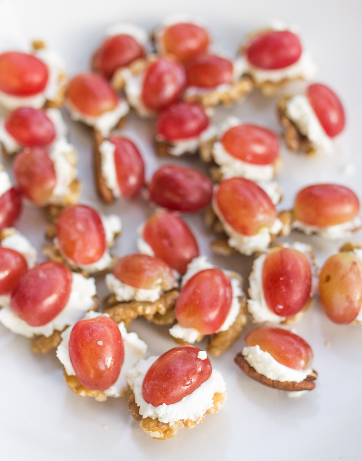 Easy Party Appetizer: Grapes, Goat Cheese and Nuts | InspiredRD.com