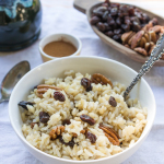 Brown Rice Cereal with Raisins and Pecans | InspiredRD.com #SweetNaturally