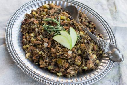 Gluten-Free Wild Rice Stuffing | InspiredRD.com