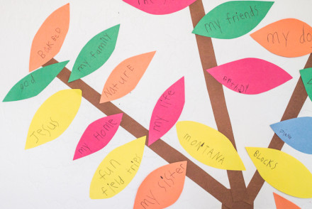 How to make a simple Thankful Tree with your kids for Thanksgiving | InspiredRD.com