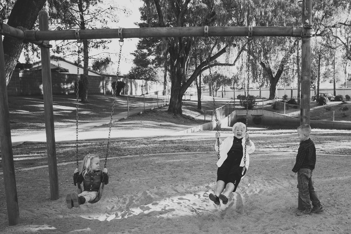 Grandma on a swing = Pure Joy