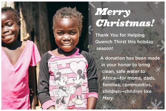 Give the gift of clean water - Blood:Water Mission