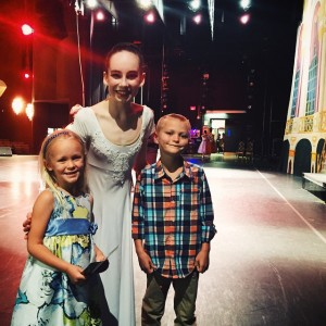 Backstage with Cinderella. (Thank you @balletetudes and @kellanmeko for a…