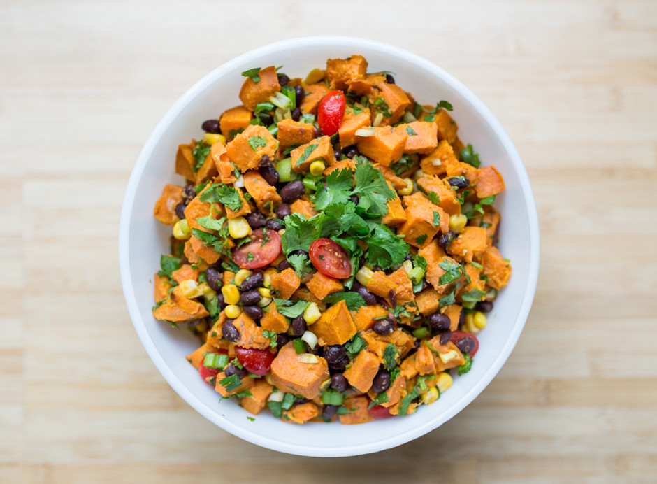 The BEST roasted sweet potato salad recipe. So easy to make, perfect ...