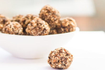 These paleo energy bites are so easy to make! Includes nut-free and no-bake options. Gluten-free!